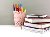 Pen and pencil office equipment for eduation or business still life Stock Images