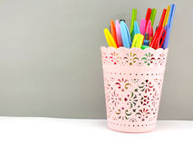 Pen and pencil office equipment for eduation or business still life Stock Photo
