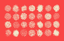 Pen and Pencil scribble brush pack, various textures Royalty Free Stock Images