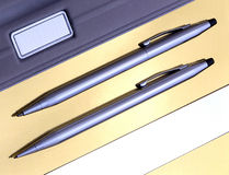 Pen & Pencil Set. Look sharp with this rich pen and pencil set Royalty Free Stock Photography