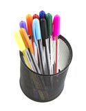 Pen and pencils container Stock Images