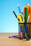Pen and pens in holder Stock Images