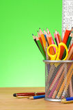 Pen and pens in holder Royalty Free Stock Photography
