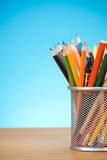 Pen and pens in holder Royalty Free Stock Photo