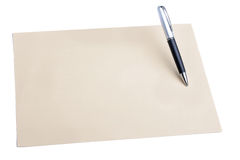 Pen and plain color paper Stock Photography