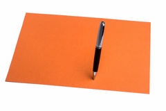 Pen and plain color paper Stock Photo