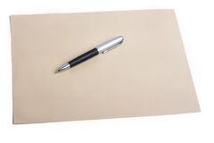 Pen and plain color paper Royalty Free Stock Photography