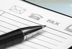 Pen and Planner. Closeup of Planner with Pen on the Table Royalty Free Stock Photos