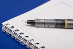 PEN ON PLANNING DIARY Stock Photography