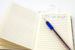 Pen and pocket notebook Royalty Free Stock Photo