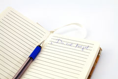 Pen and pocket notebook Stock Images