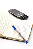 Pen and pocket notebook Stock Image