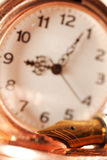Pen and pocket watch Royalty Free Stock Photo
