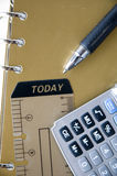 Pen point to today tag Stock Image