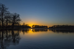 Pen Ponds Sunrise. Richmond Park, London Borough of Richmond upon Thames, England, United Kingdom Stock Image