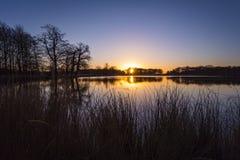 Pen Ponds Sunrise. Richmond Park, London Borough of Richmond upon Thames, England, United Kingdom Royalty Free Stock Image