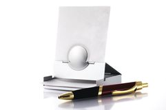 Pen and post-it holder Royalty Free Stock Photo