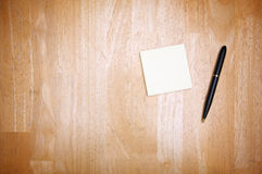 Pen and Post It Notes Stock Photography
