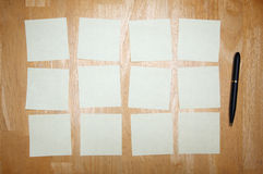 Pen and Post It Notes Pad Stock Photography