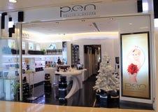 Pen pulito e natura shop in hong kong. Pen pulito e natura shop, located in East Point City Shopping Mall, Tseung Kwan O, Hong Kong. pen pulito e natura shop Stock Photo