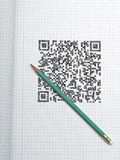 Pen and QR CODE Stock Image