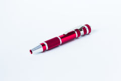 pen red Royaltyfria Bilder