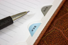 Pen reminder note writing diary Royalty Free Stock Photo