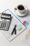 Pen and report paper, business conceptual Stock Photography