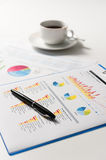 Pen and report paper, business conceptual Stock Photo