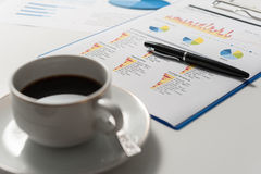 Pen and report paper, business conceptual Royalty Free Stock Photos