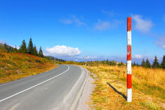 Оpen road in mountains. Balkans. Spine Kopaonik. Royalty Free Stock Photo