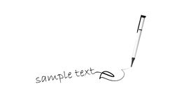 Pen sample text Royalty Free Stock Image