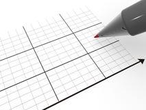 Pen with schedule. 3d Stock Photos