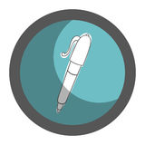 Pen school supply icon Royalty Free Stock Photography