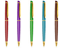 Pen set. Royalty Free Stock Image