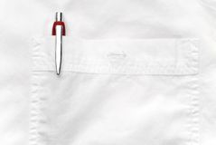 Pen in a shirt pocket Royalty Free Stock Photography