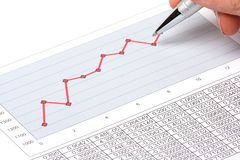 Pen Showing Diagram Stock Image