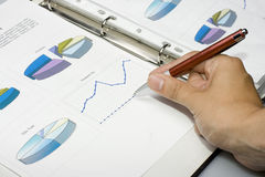 Pen showing diagram Royalty Free Stock Images