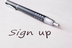 Pen and sign up Royalty Free Stock Images