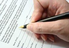 Pen signature Stock Photos