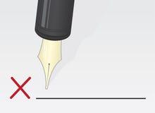 Pen Signature X Royalty Free Stock Photography