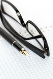 Pen And Spectacles Stock Image