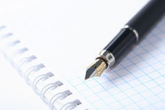 Pen On Spiral Notebook Royalty Free Stock Photo