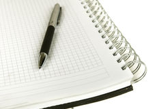 Pen and spiral notebook Royalty Free Stock Photo