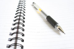 Pen and spiral notebook Royalty Free Stock Image