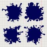 Pen splash shapes on notebook background royalty free illustration