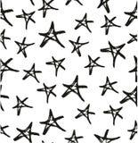 Pen Star Seamless Pattern et le fond ont à main levée placé 02 illustration libre de droits