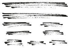Pen Strokes Bold Grunge Line & Background Set 13. This image is a vector illustration and can be scaled to any size without loss of resolution Royalty Free Stock Images
