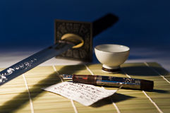 The pen and sword Stock Photo