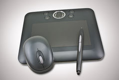 Pen Tablet. Captured with wireless mouse and pen stock images